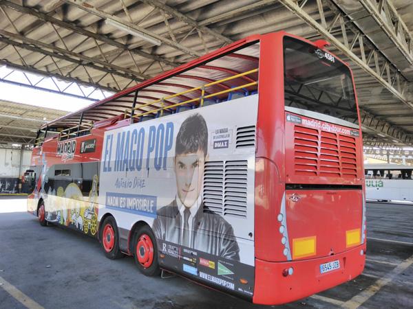 Publicidad El Mago Pop bus turístico