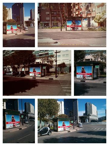 Fotografias de kioskos con publicidad