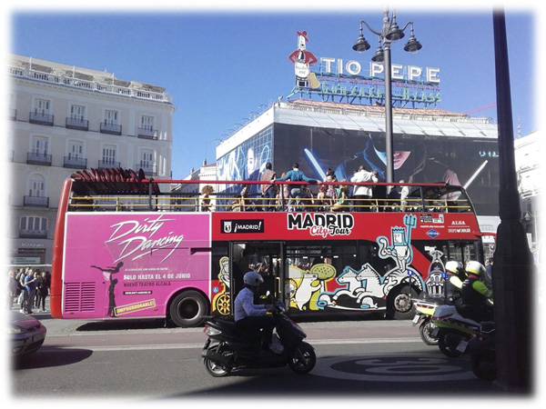Publicidad Dirty Dancing Madrid bus turístico