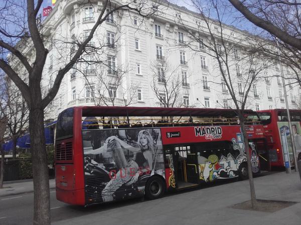 Publicidad Madrid bus turístico