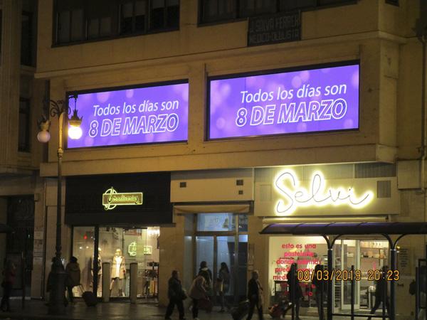 Publicidad en pantallas LED