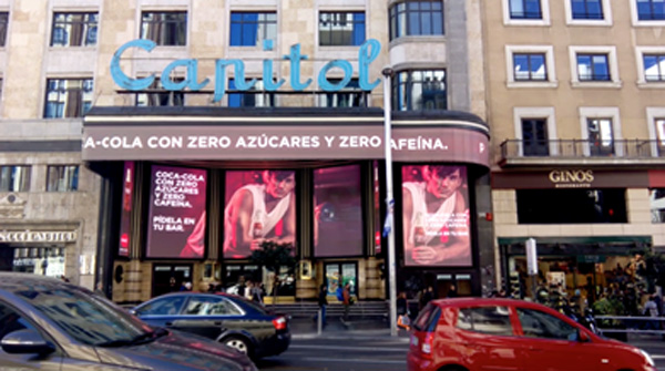 Publicidad en Pantallas LED Capitol Madrid