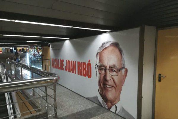 """Publicidad exterior MetroValencia """"Alcalde Joan Ribó"""""""