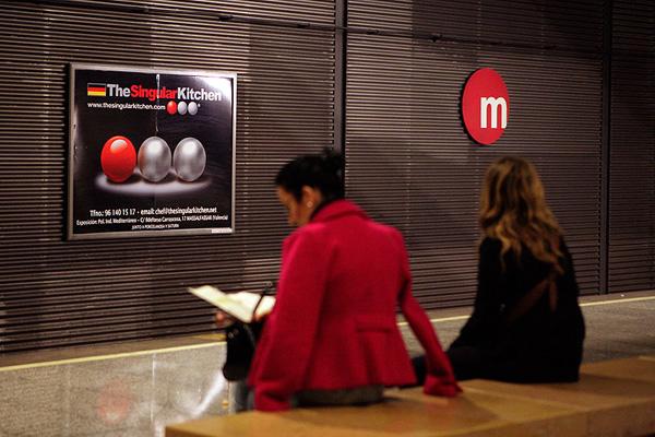 Publicidad en estación MetroValencia