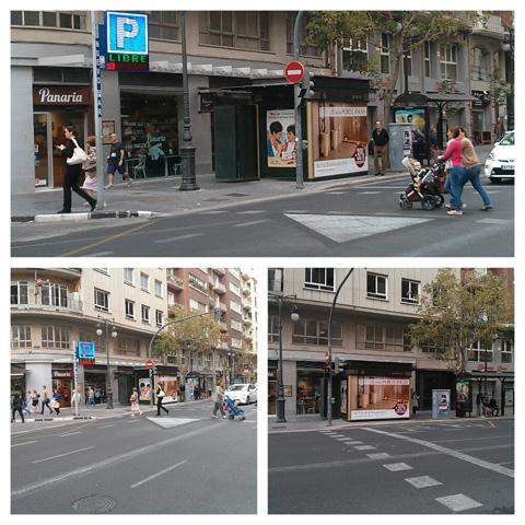 Publicidad en kiosko de la Avenida Barón de Cárcer en Valencia