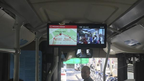 Publicidad en Pantallas de televisión en autobuses de valencia