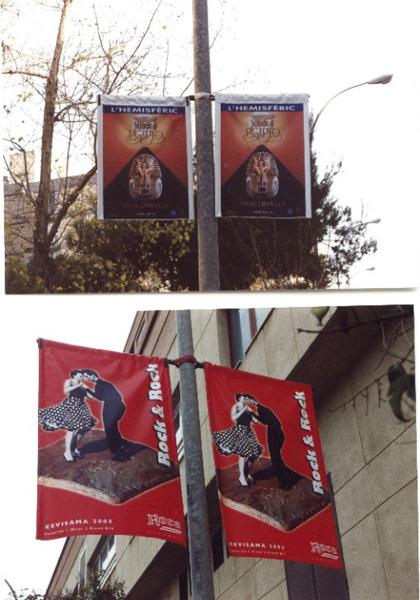 Banderolas publicitarias en farolas