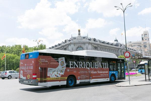 Publicidad semintegral autobús urbano Madrid