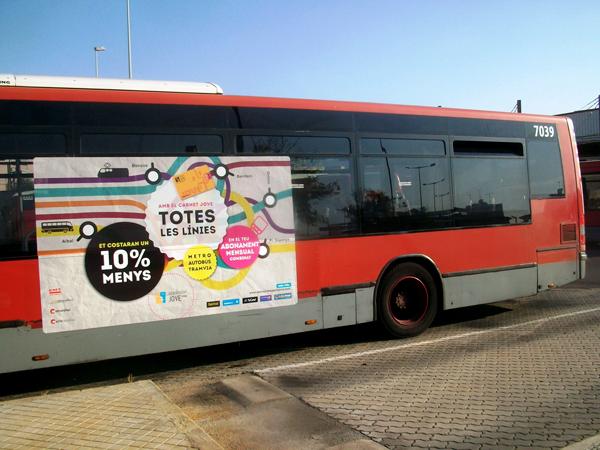 Publicidad trasera + lateral plus autobús urbano