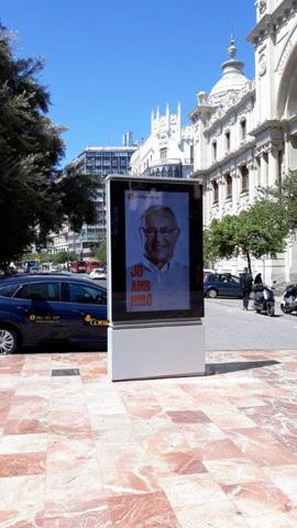 Publicidad en el centro de valencia