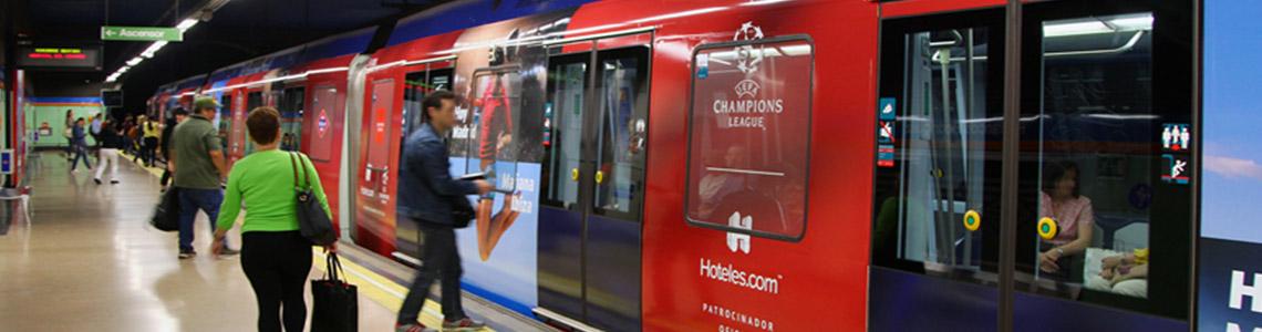 Publicidad en trenes en Valencia