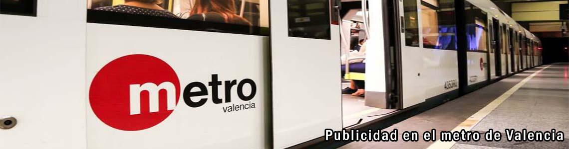 Publicidad en el metro de Valencia