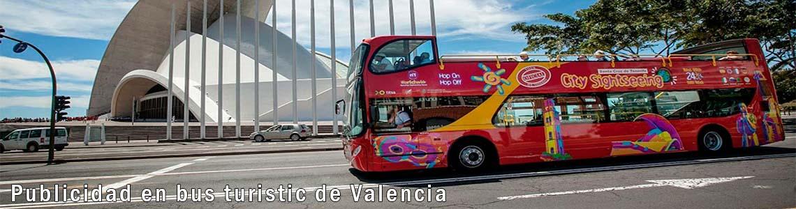 Publicidad en bus turistic de Valencia